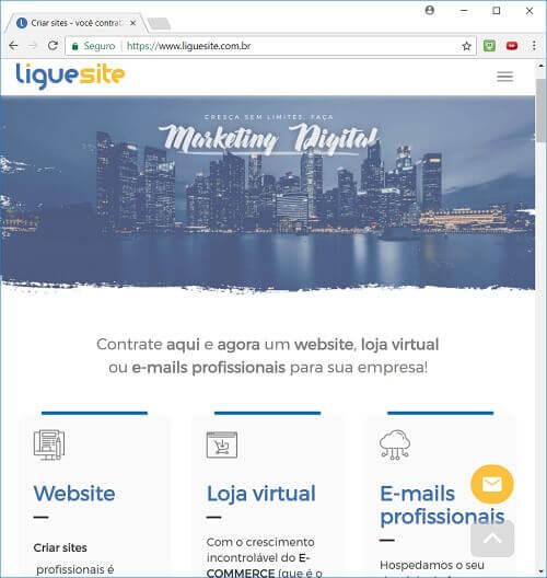 como criar um site Liguesite