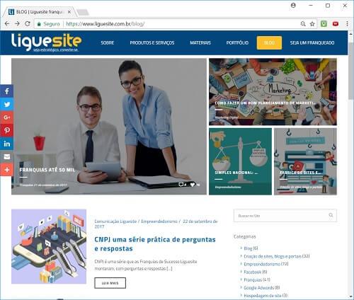 como criar um site - blog da Liguesite