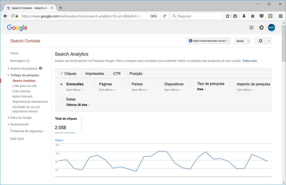 como criar um site - google search console