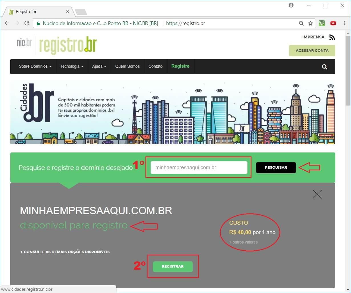 como criar um site - hospedagem de site