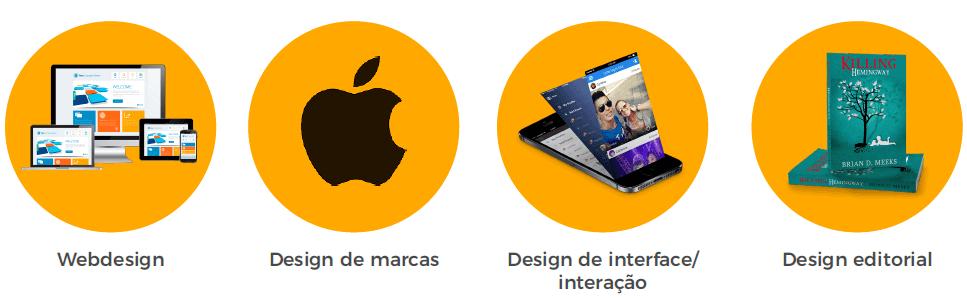 conceito de cor para web designer