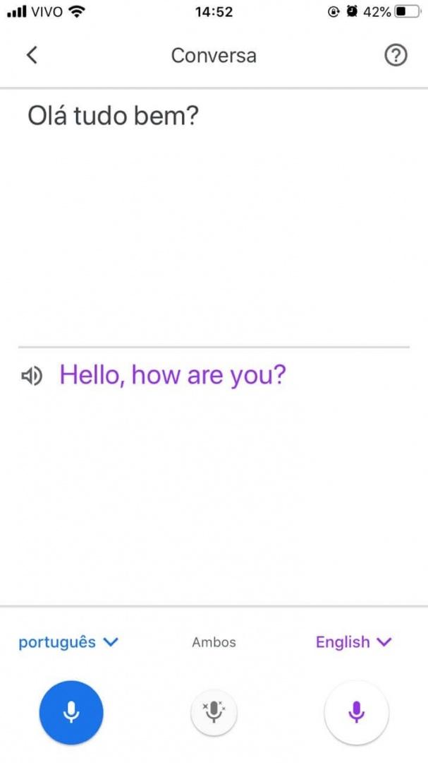 Google Tradutor - reproduzir o áudio da tradução em voz alta