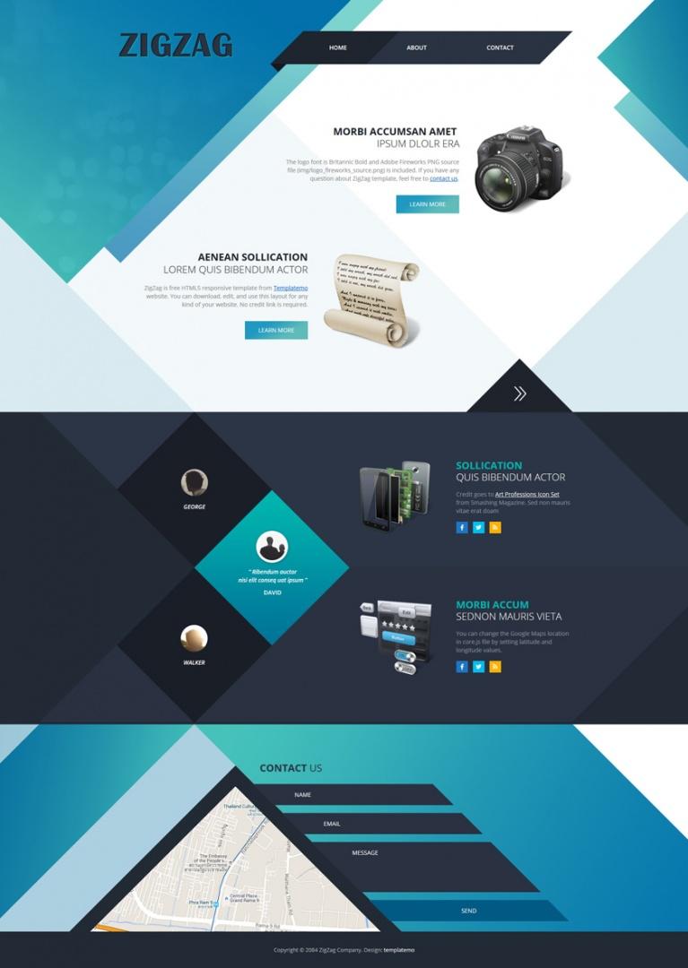 Tendências de web design para 2019 com layout assimétrico