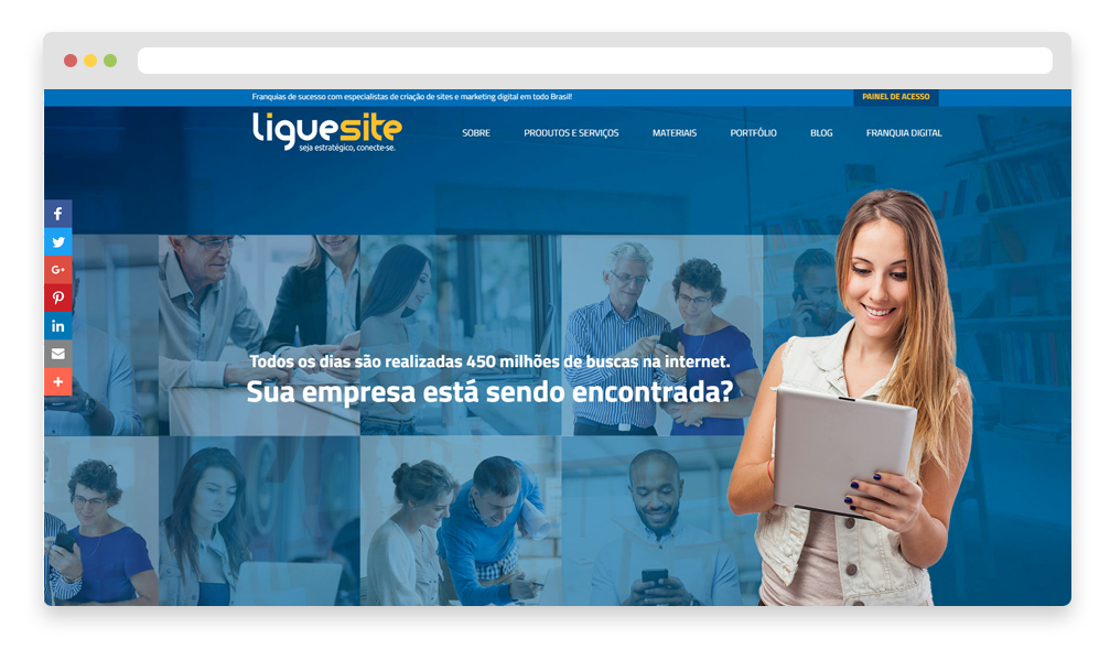 template de marketing para landing pages