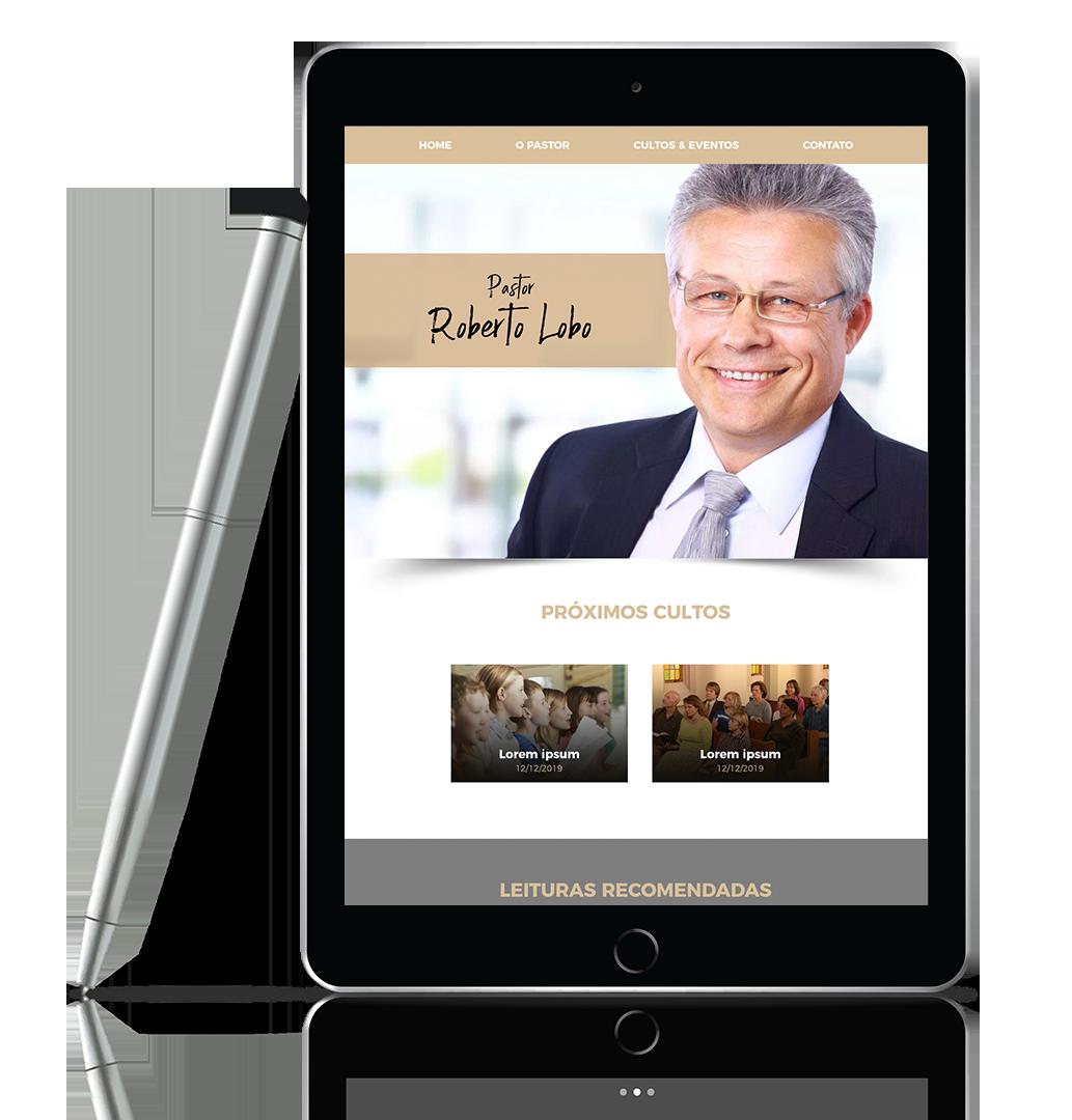 criar site do pastor